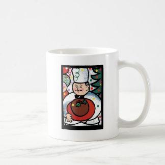 French chef Christmas mug