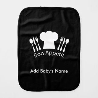 French Chef Hat Gourmet Cook Burp Cloth