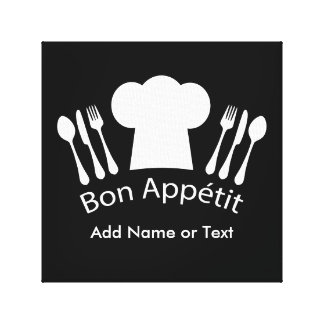 French Chef Hat Gourmet Cook Canvas Print