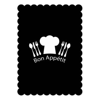 French Chef Hat Gourmet Cook Card