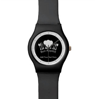 French Chef Hat Gourmet Cook Watches