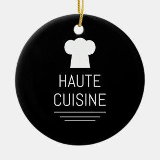 French Chef Haute Cuisine Gourmet Ceramic Ornament