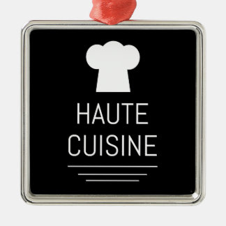 French Chef Haute Cuisine Gourmet Metal Ornament