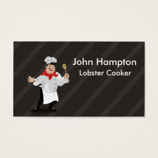 French chef illustration business card