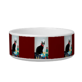 French Chef Lucy Cat Water Bowls