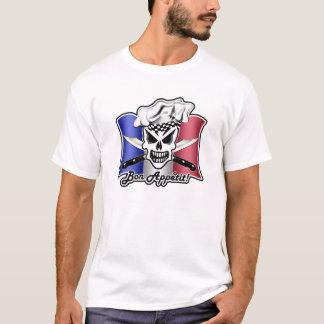 French Chef Skull: Bon Appetit! T-Shirt