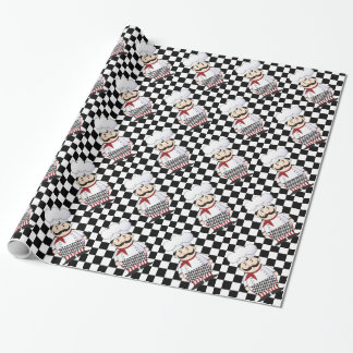 French Chef Gift Wrap Paper