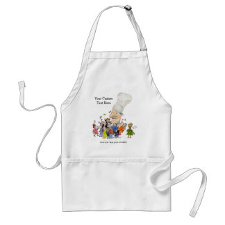 French Chefs Hat Adult Apron