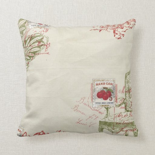 French Cherries pillow