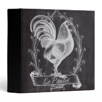 french chic chalkboard western country rooster binder