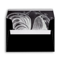 french chic chalkboard western country rooster envelope