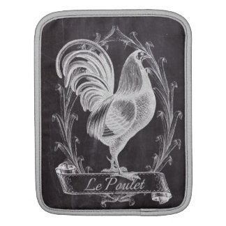 french chic chalkboard western country rooster sleeve for iPads