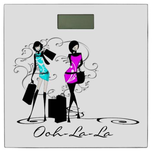 French Chic Girly Ooh La La Bathroom Scale Zazzle