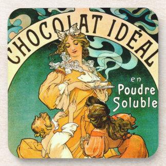 French Chocolate Ad c1895 Beverage Coaster