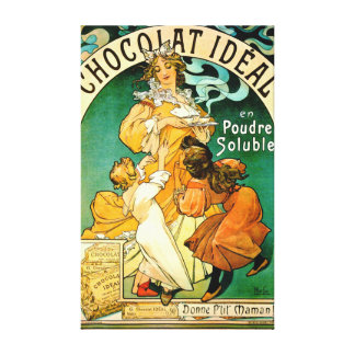 French Chocolate Ad c1895 Canvas Print