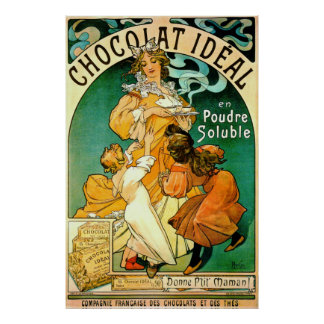 French Chocolate Ad c1895 Poster
