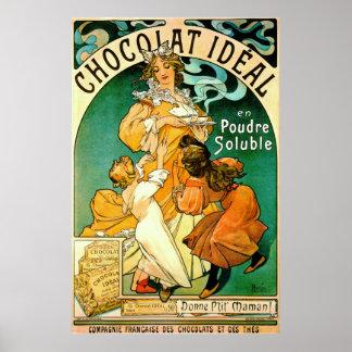 French Chocolate Ad c1895 Print