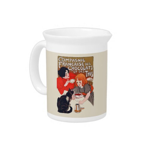 French chocolate party drink pitcher zazzle for Pitcher drink recipes for parties
