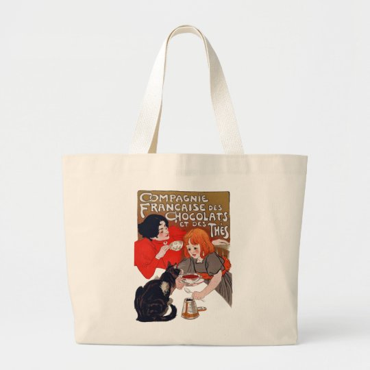 French Chocolate Party Large Tote Bag