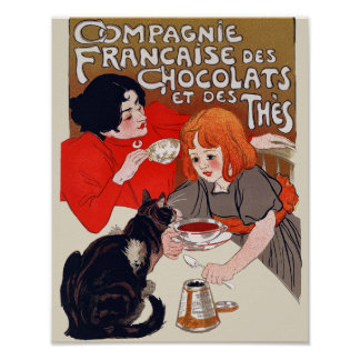 French Chocolate Party Posters