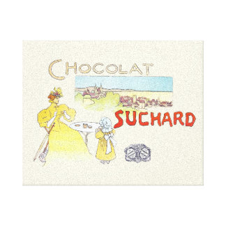 French Chocolate Vintage Candy Advertising Canvas Print