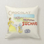 French Chocolate Vintage Candy Advertising Pillows