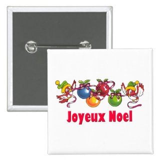 French Christmas Birds Buttons