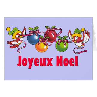 French Christmas Birds Card