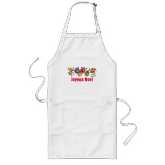 French Christmas Birds Long Apron