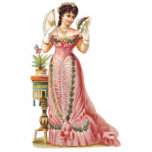 FRENCH CHRISTMAS ORNAMENTS - VICTORIAN BEAUTIES PHOTO STATUETTE