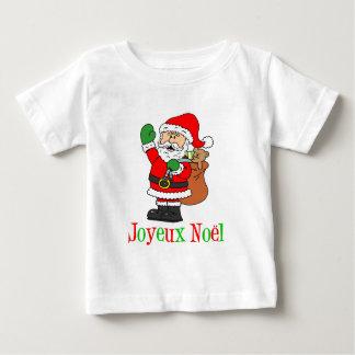 French Christmas Santa Joyeux Noel Baby T-Shirt