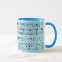 French Christmas Sheet Music Mug
