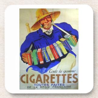 French Cigarettes Toutes Faites Drink Coaster