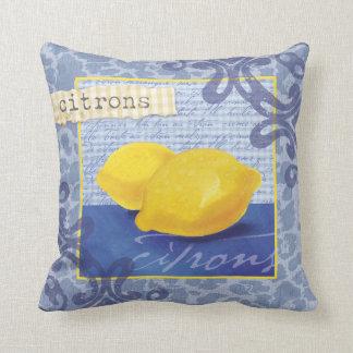 French Citrons/lemons Accent Pillow