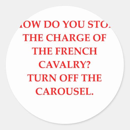french classic round sticker