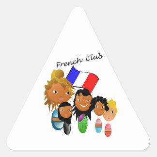 French club triangle stickers