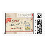 French Collage Postage Stamps