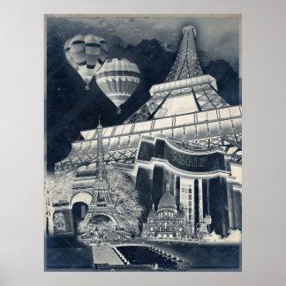 French Collage V1 Negative Print