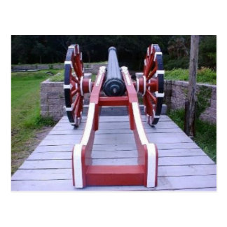 French Colonial Cannon Postcard