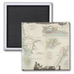 French Colonies in Africa 2 Inch Square Magnet