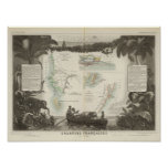 French Colonies in Africa Poster