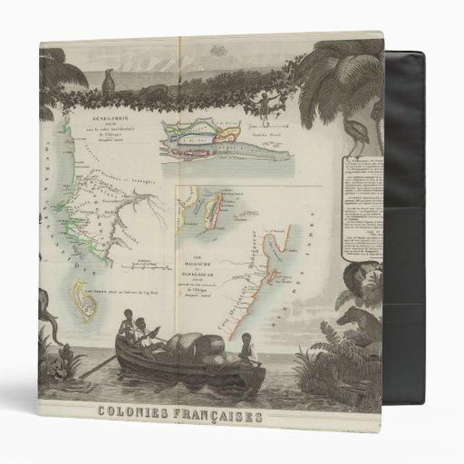 French Colonies in Africa Vinyl Binder
