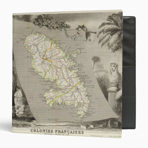 French Colonies Martinique 3 Ring Binders