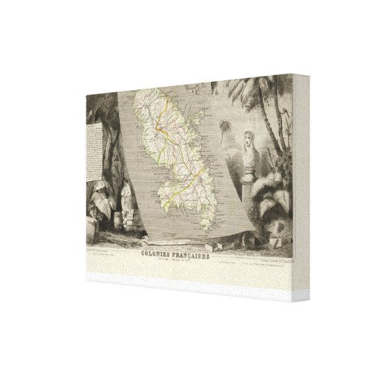French Colonies Martinique Canvas Print