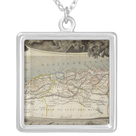 French colony Algeria Silver Plated Necklace