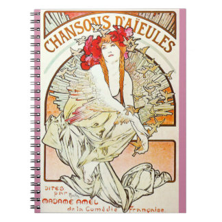 French Concert Ad 1898 Notebook