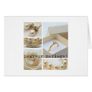 french congratulations on wedding day greeting card