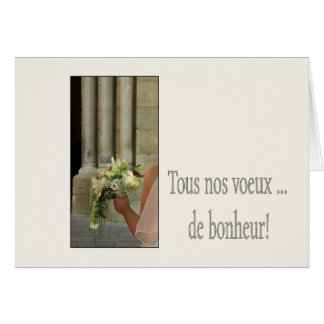 french congratulations on wedding day card