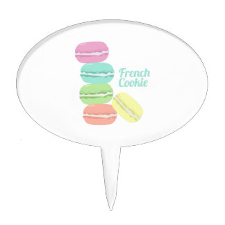 French Cookie Cake Topper
