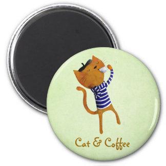 French Cool Cat Fridge Magnet